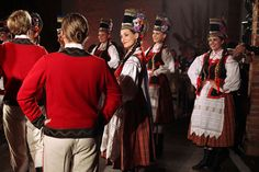 Regional costumes and traditional dances from Kurpie Zielone*, Poland [source]. *literally: Green Kurpie - the area of so-called Green Forest [Puszcza Zielona] in the region of Kurpie. Folk Costume, Costumes, Regional, Poland, Dancing, Traditional, Dress Up Clothes, Dance, Fancy Dress
