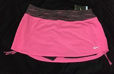 Nike Running Skirt Shirts Pink Dri Fit Large Black Polka Dot L12 W32-34 NWT Run
