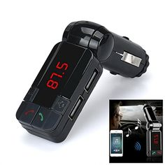 AutumnFall Dual USB Car Kit Charger Wireless Bluetooth Stereo MP3 Player FM Transmitter