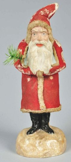 Christmas Santa Belsnickel Candy Container.