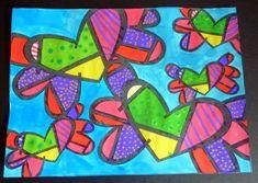 Arts visuels inspirés de Romeo Britto Classroom Art Projects, Art Classroom, Kindergarten Art Lessons, Art Gallery Wedding, Graffiti, Ecole Art, Valentines Art, Arte Pop, Marker Art