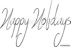Vettoriale: Happy holidays sign