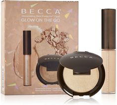 Becca Afterglow Holiday 2015 Shimmering Skin Perfector Glow on the Go $20. I think this is an amazing deal. Both highlighters are in the color Opal.