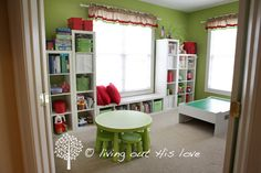 Playroom and home school room via IHeart Organizing: Reader Space