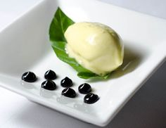 "Olive Oil ""Butter"" and Balsamic Vinegar Gel"