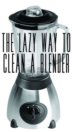Clean a blender the easy way.