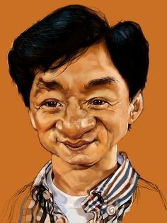 """""""Jackie Chan"""" by Salnavarro, on an iPad using the Sketchbook Pro app."""