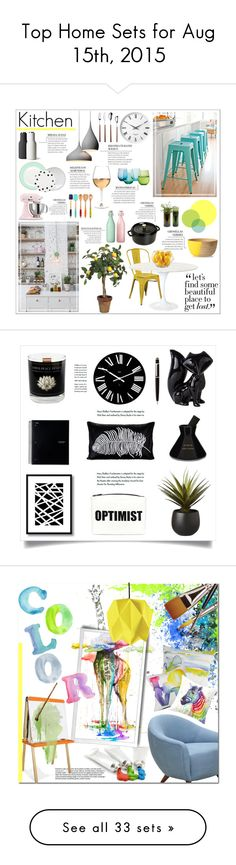 """""""Top Home Sets for Aug 15th, 2015"""" by polyvore ❤ liked on Polyvore featuring interior, interiors, interior design, home, home decor, interior decorating, Office Star, Staub, Bormioli Rocco and Home Decorators Collection"""
