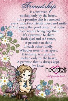 Promises of Friendship - #HeartfeltCreations #craftyquote #quote #encouragingquote #friendship Friendship Day Poems, Friendship Thoughts, Genuine Friendship, Special Friend Quotes, Friend Poems, Special Friends, Cards For Friends, Friends In Love, Friend Cards