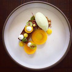 Chocolate Mango Green apple Lemon Meringue. Plate by @studiomattes by chefrichardkarlsson