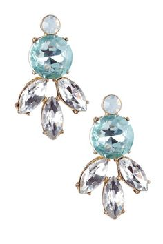 Cleo Aquamarine Crystal Stud Earrings by Monique Leshman on @HauteLook #somethingblue #wedding #jewelry