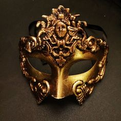 Gold Mens Mask Gladiator Mask  Greek God Mask Masquerade Masks Roman Mens Mask DOLLAR SHIPPING in 24hrs by HigginsCreek on Etsy https://www.etsy.com/listing/216030064/gold-mens-mask-gladiator-mask-greek-god