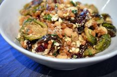Brussel Sprout, Cranberry & Farro Salad | Bean A Foodie