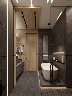 bathroom interior Adorable Wooden Bathroom Design Ideas For You Bathroom Design Luxury, Modern Bathroom Design, Home Interior Design, Bedroom Modern, Interior Designing, Bath Design, Bathroom Designs, Luxury Interior, Modern Interior