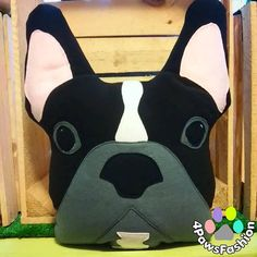 BUZZ black gray white French Bulldog stuffed toy Frenchie