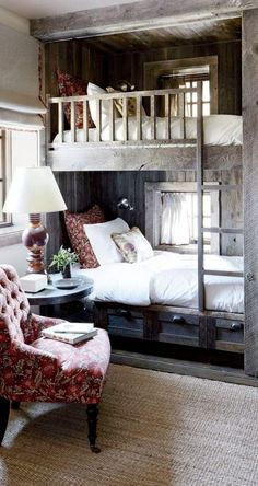 Home bunch rustic bunk beds, rustic bedroom design и home decor. Apartment Interior, Home Interior, Interior Design, Interior Sketch, Nordic Interior, Classic Interior, Interior Modern, Apartment Living, Interior Styling