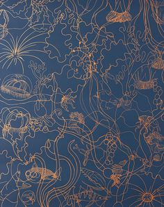 Underwater World, Deep Blue by Pattern People, The Pattern Collective