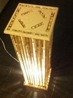 Objeto de luz hecho en Colihue (Bambú Chileno)+