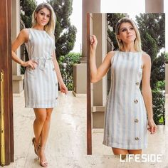 Swans Style is the top online fashion store for women. Shop sexy club dresses, jeans, shoes, bodysuits, skirts and more. Casual Wear, Casual Dresses, Girls Dresses, Summer Dresses, Kurta Designs, Blouse Designs, Dress Outfits, Fashion Dresses, Fashion Clothes