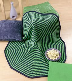 Spiral Afghan By Pauline Turner - Free Crochet Pattern - (crochetmagazine)