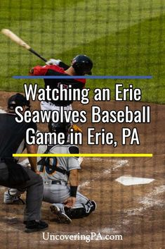 Watching an Erie SeaWolves baseball game is a great way to spend a summer evening in Erie, Pennsylvania. Find out everything you need to know to attend a game here. Hockey Teams, Baseball Players, Erie Insurance, Presque Isle State Park, Play 60, Erie Pennsylvania, Great Lakes Region, Wife And Kids