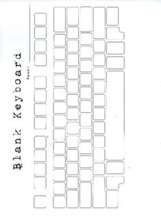 Parts of the computer keyboard scramble worksheet for Blank keyboard template printable