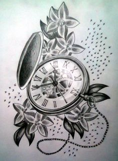 Pocket Watch clipart drawn - pin to your gallery. Explore what was found for the pocket watch clipart drawn Pocket Watch Drawing, Pocket Watch Tattoo Design, Pocket Watch Tattoos, Up Tattoos, Trendy Tattoos, Flower Tattoos, Sleeve Tattoos, Tatoos, Time Piece Tattoo