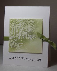 Stop me- More Christmas Cards- Green by CAKath - Cards and Paper Crafts at Splitcoaststampers