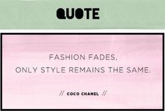 the best words from coco chanel | Ramen Couture