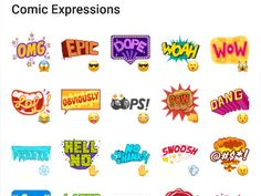 A sticker pack that can be used in every occasions. This pack contains stickers with some Comic Expressions. Telegram Stickers, Felt Crafts, Packing, Clip Art, Comics, Craft Ideas, Facebook, Image, Bag Packaging
