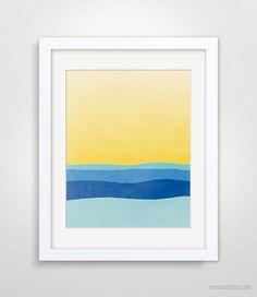 Abstract Landscape Wall Art Abstract Art Print Seascape by evesand, $18.00