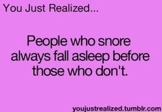 #snoring #snorin remedies People who snore always fall asleep before those who dont