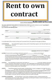 Simple Rent To Own Contract Forms For House Template Rental Agreement Templates Contract Contract Template