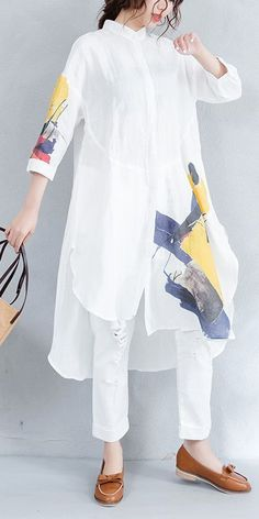 Unique Tunic Dress from 52 of the Chic Tunic Dress collection is the most trending fashion outfit th Look Fashion, Hijab Fashion, Fashion Dresses, Feminine Fashion, Fashion Women, Stylish Dresses, Women's Dresses, Moda Casual, Mode Hijab