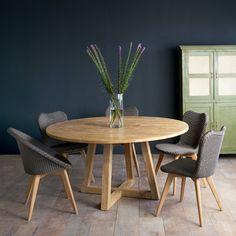 Teak Round Dining Table | Java Circle Natural – Originals Furniture
