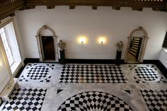 Black and White and English all over...The Great Hall: Queen's House by curry15, via Flickr...  From...  http://www.flickr.com/photos/47071837@N02/7184903995/in/photostream/#