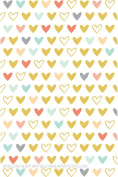 Make this your background for your techie devices! Yellow Heart Art: Some Hearts For You!