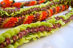 Colorful Array of Fresh Floral Leis for Any Occasion