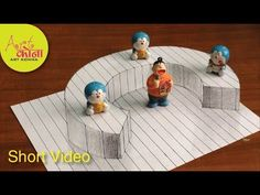 How To Draw 3d Raising letter C - 3D Illusion - Very Easy 3D Trick Art o...