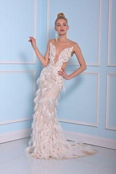 Christian Siriano Illusion Sheath Gown in Beaded Embroidery | KleinfeldBridal.com