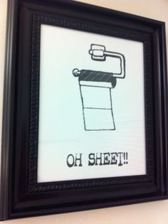 Oh sheet bathroom picture by Everyonepoops on Etsy, $20.00
