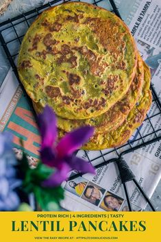 Lower Excess Fat Rooster Recipes That Basically Prime These Lentil Pancakes Are A Power Packed Nutritious Recipe Using Leftover Dal. They Are Vegan, Gluten-Free, Low In Fat, High In Protein, Super Easy To Make In Just 10 Minutes Indian Food Recipes, Vegetarian Recipes, Healthy Recipes, Delicious Recipes, Healthy Food, Pancake Calories, Breakfast Recipes, Snack Recipes, Good Food