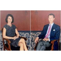New portraits of Prince Joachim and Princess Marie. It is placed at the Schackenborg Palace.
