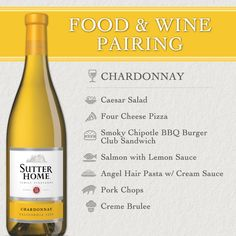 good ole everyday wine with simple pairings.sutter home food and wine paring for chardonnay Wine And Cheese Party, Wine Tasting Party, Wine Cheese, Cheese Food, Cheese Plates, Boot Camp, Beer Calories, Four Cheese Pizza, Side Dishes