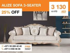 It's hard to beat the timeless look of this modern Victorian style Alize sofa. The crystal button padded back combined with the curved frame, the rolled arms, and white fabric upholstery, make this sofa the perfect item for modern living room. The piece featuring gorgeous lines and angles offers indulgent comfort and will endure for ages to come. More details: http://gtfshop.com/index.php?route=product%2Fproduct&path=163_290&product_id=909