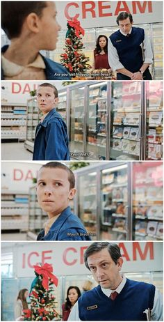 """""""Are you lost?"""" - Eleven and the supermarket #StrangerThings"""