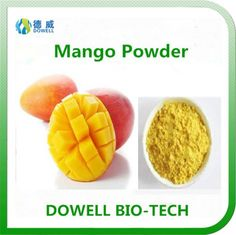 Mango powder - Dowell Bio-Tech focus on producing 100% pure natural fruit and vegetable powders by the advanced manufacturering technology. All the raw materials comply with organic standards, contains variety of vitamins and acids; With pure flavor, good taste, super water solubility, can be widely used in pharmaceutical and health care products, health food, infant food, beverage, dairy products, sport drinks and other fields.