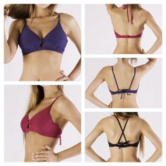 Surfkini D Cup top, stylishly supporting C to DD cup, one top can be worn 3 ways!