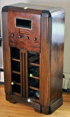 Uniqe Bar Wine Rack Refurbished Vintage Antique 1920's Art