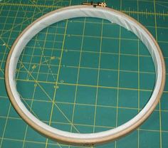 How to Bind an Embroidery Hoop.  Didn't even know you had to do this . . . Great website.